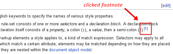 Footnote on Wikipedia