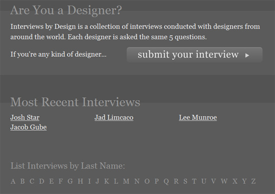 Interviews by Design