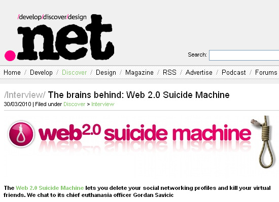 An Article on .net About a Social Networking Tool