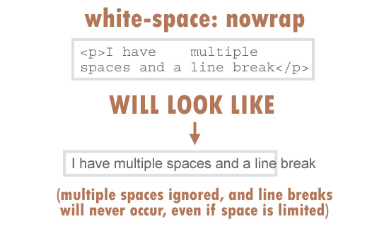 white-space: nowrap
